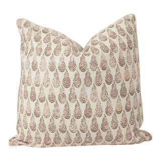 Tibetano Juniper Linen Throw Pillow For Sale