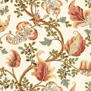 Sample - Schumacher Fox Hollow Wallpaper in Ivory For Sale