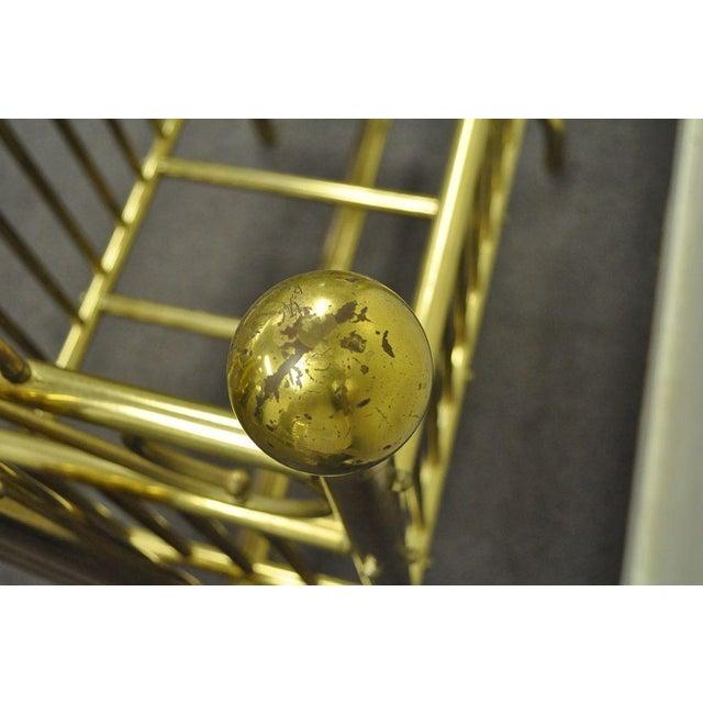 Vintage Victorian Brass Infant Cradle For Sale - Image 10 of 13