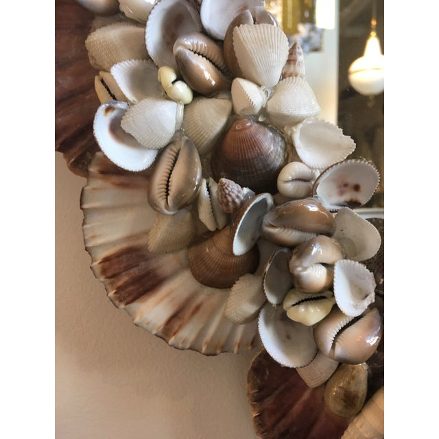 Vintage Shell Mirror For Sale - Image 4 of 5