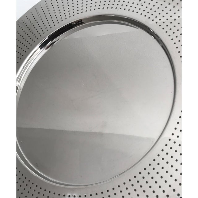 2000 - 2009 Alessi Round Polished Stainless Steel Tray For Sale - Image 5 of 12