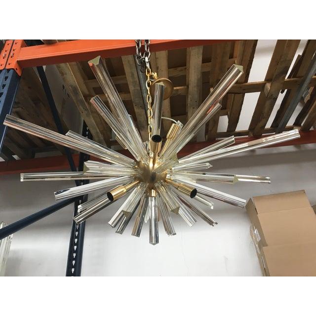 Murano Murano Glass Triedo Sputnik Gold Brushled Chandelier For Sale - Image 4 of 12