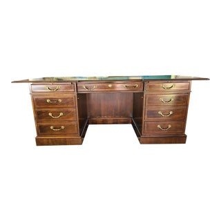 Vintage Fancher Mahogany Executive Desk For Sale