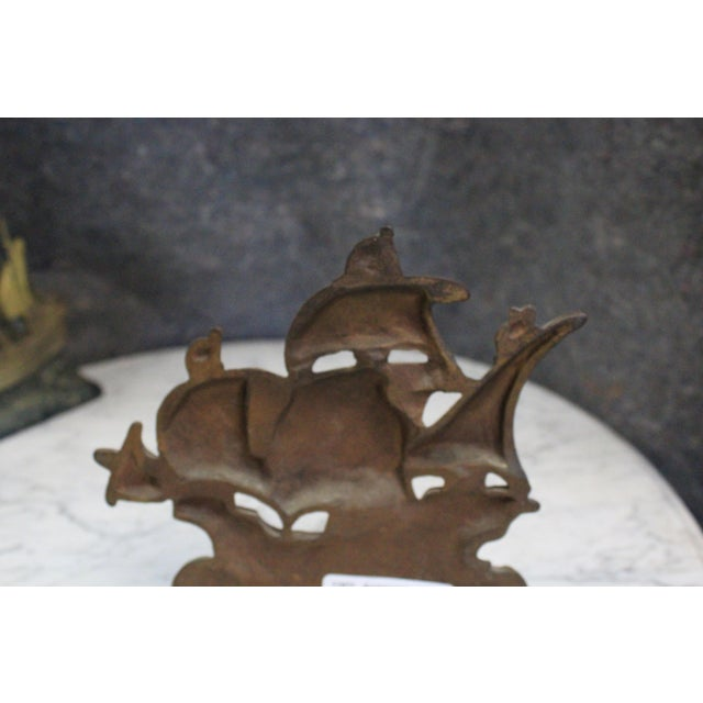 Early 20th Century Vintage Columbus Ship Doorstop For Sale - Image 4 of 5