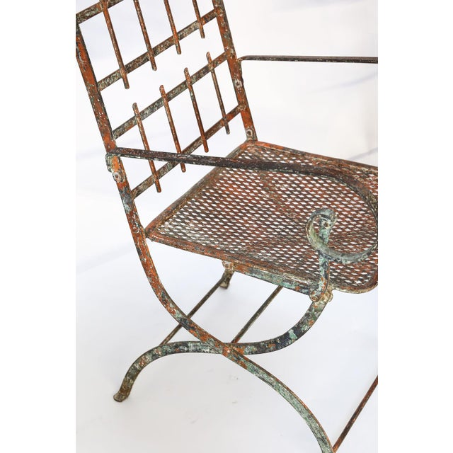 Pair of French Iron Garden Chairs For Sale - Image 12 of 13
