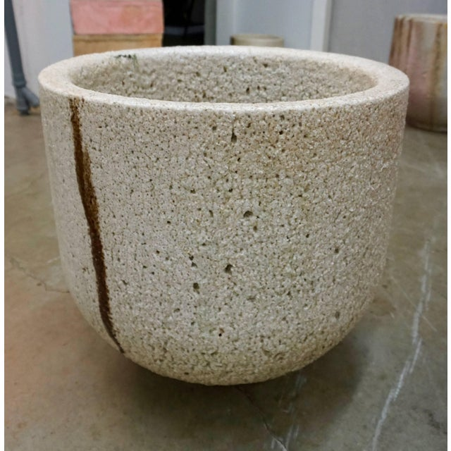 White Ceramic and Glass Crucible or Planter For Sale - Image 8 of 8