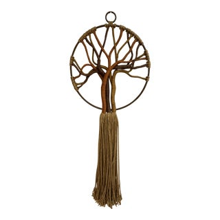 "1970s ""Tree of Life"" Jute Wall Hanging For Sale"
