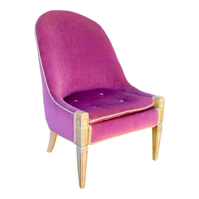 Vintage Lilac Slipper Chair - Image 1 of 8