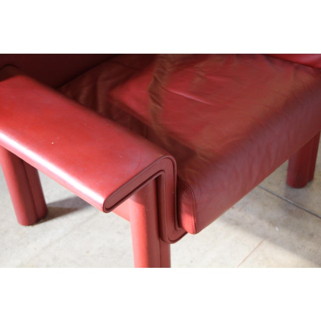 Afra & Tobia Scarpa Leather Lounge Chair For Sale - Image 10 of 13