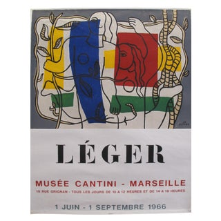 1966 Original French Exhibition Poster - Musée Cantini Marseille - Fernand Léger For Sale