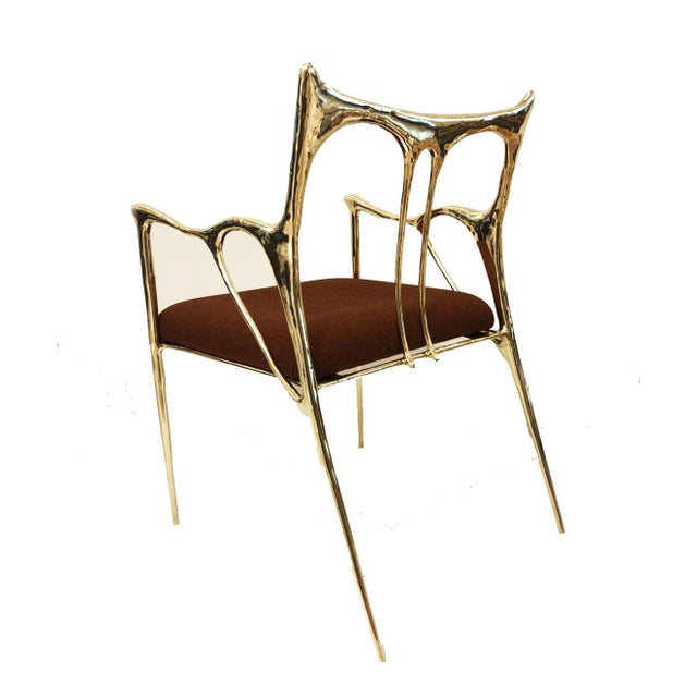 Brass sculpted brass chair, Misaya Dimensions: W 54 x L 58 x H 79 cm (seating: 63) Hand-sculpted chair in brass. Available...
