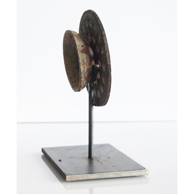 Perforated Found Object Sculpture For Sale - Image 4 of 6