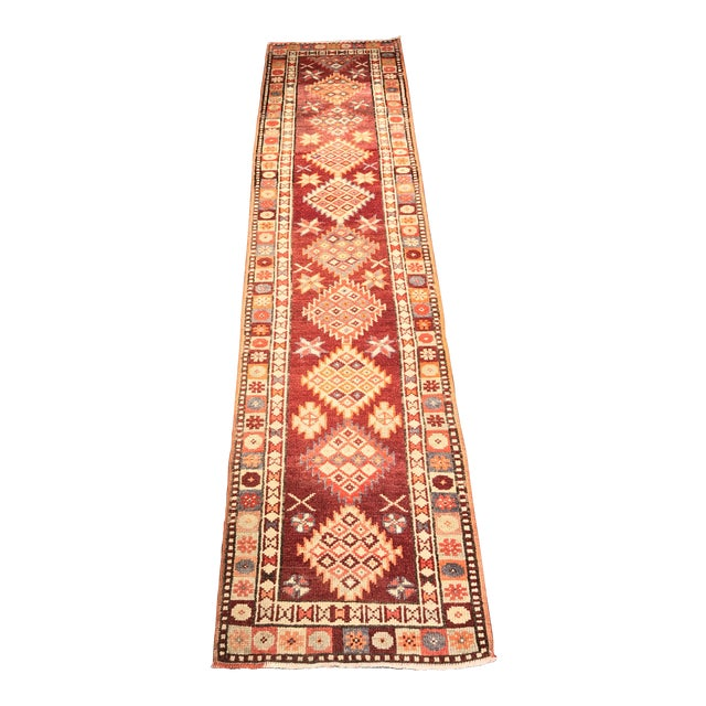 "Bellwether Rugs Vintage Turkish Oushak Runner - 2'9"" X 11'4"" - Image 1 of 11"