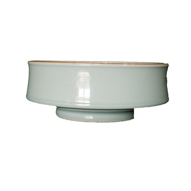 Hand Carved Celadon Bowl - Image 3 of 6