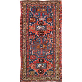 Early 20th Century Antique Kazak Wool Gallery Rug For Sale