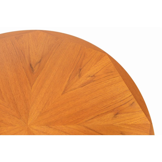 Danish Modern Round Starburst Teak Coffee Table - Image 7 of 9