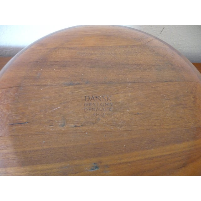 1960s 1960s Danish Modern Digsmed Teak Bowls - a Pair For Sale - Image 5 of 10