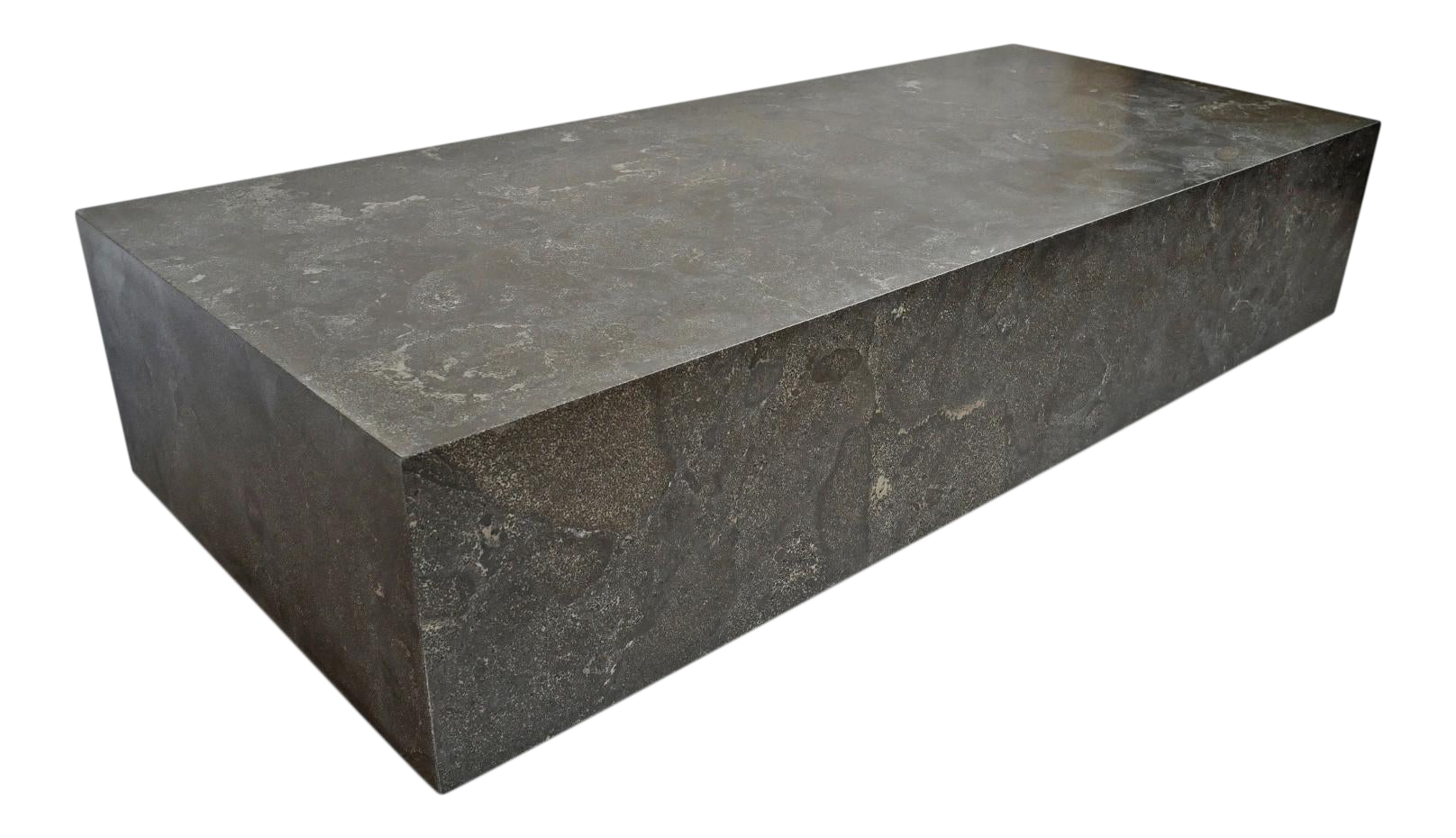 Picture of: Modern Grey Marble Block Coffee Table Chairish