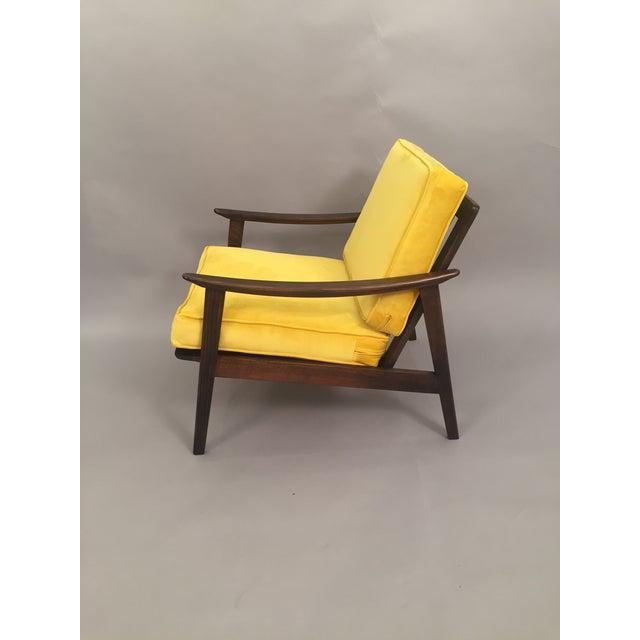 Mid-Century Modern Restored Arm Chair Velvet Cushions - Image 5 of 11