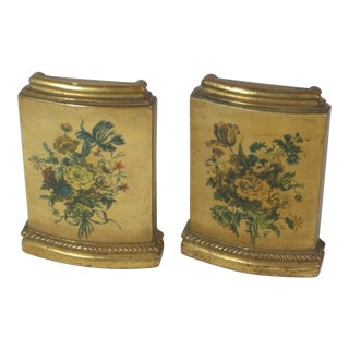 Borghese Floral Motif Bookends - a Pair For Sale