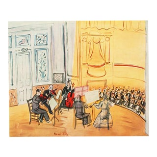 """1954 Raoul Dufy """"Chamber Music"""", First Edition Lithograph For Sale"""