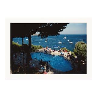 """Slim Aarons, """"Pellicano Pool,"""" September 1, 1986 Getty Images Gallery Art Print For Sale"""