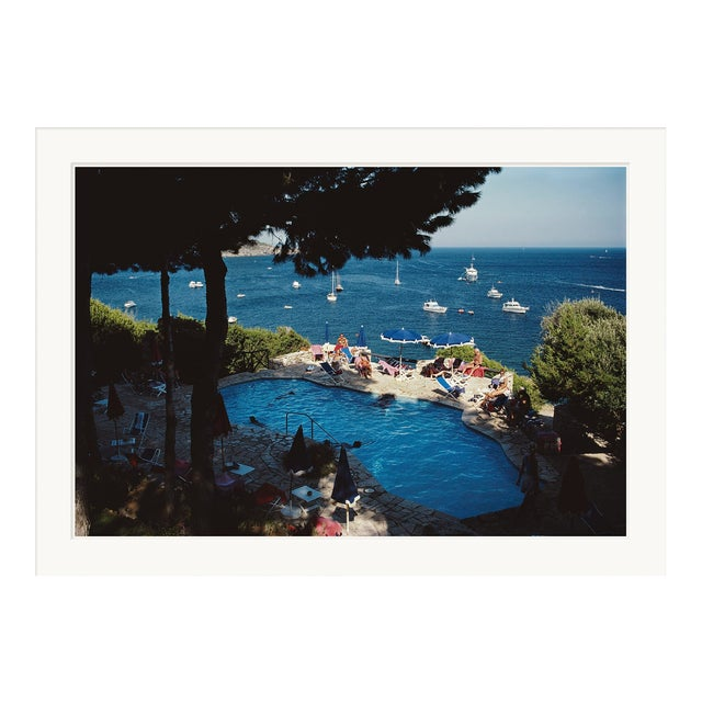 "Slim Aarons, ""Pellicano Pool,"" September 1, 1986 Getty Images Gallery Framed Art Print For Sale"