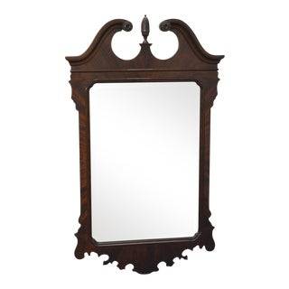 Drexel Heritage Heirlooms Flame Mahogany Chippendale Style Wall Mirror For Sale