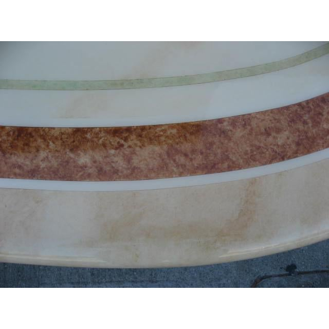 J.C. Mahey French Faux Marble Dining Table For Sale In Los Angeles - Image 6 of 7