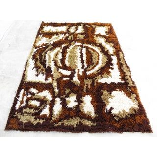Mid Century Modern Abstract Shag Rya Rug-4'7'x6'7' Preview