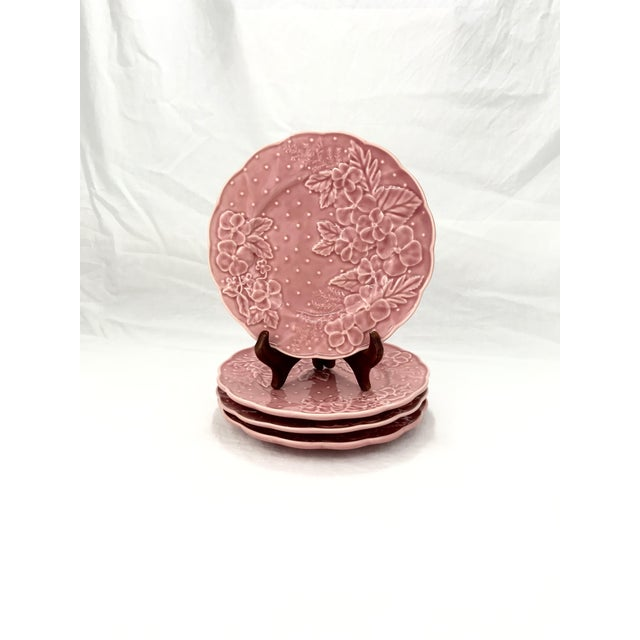 Ceramic Purtuguese Majolica Dessert Plates, Set of 4 For Sale - Image 7 of 7