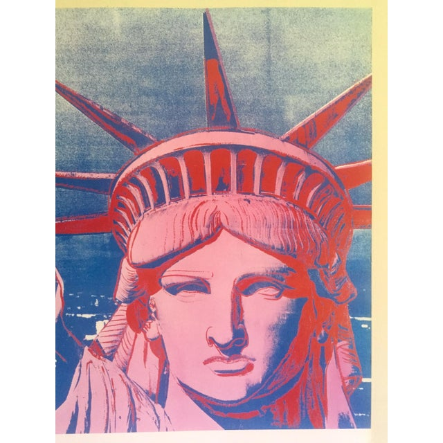 """Andy Warhol Rare 1986 Lithograph Print Paris Exhibition Poster """" 10 Statues of Liberty """" For Sale In New York - Image 6 of 13"""