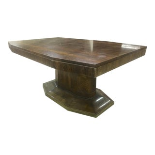 Maison Dominique Rosewood Octogon Dining Table With Central Base For Sale