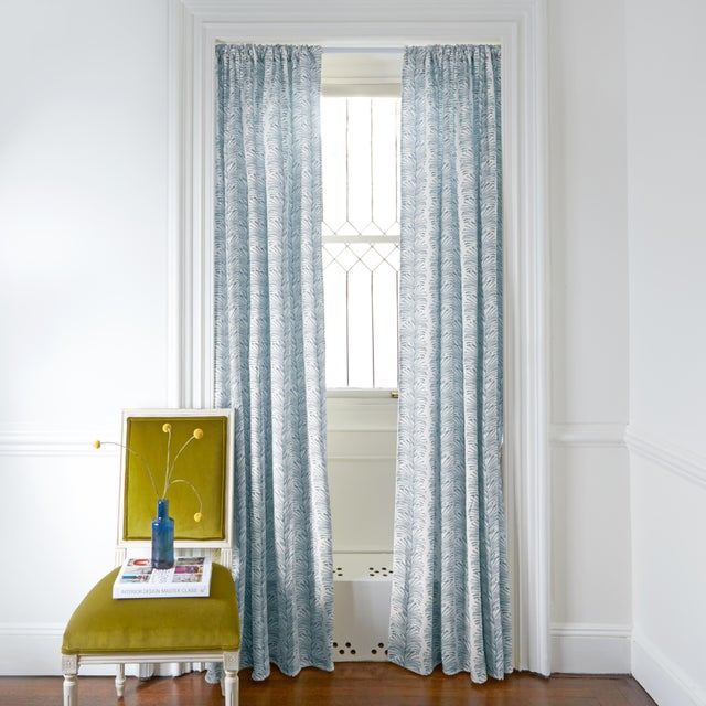 Naked windows? No worries. Our Emma curtains feature a sophisticated botanical stripe motif, scaled up for extra impact....