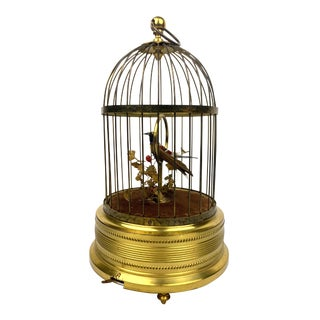 1950s Karl Griesbaum Automatronic Singing Bird Cage, Made in Germany For Sale