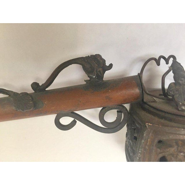 Asian Brass Metal Opium Pipe For Sale - Image 11 of 13