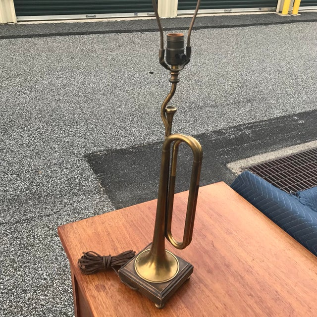 Frederick Cooper Vintage Frederick Cooper Bugle Horn Table Lamp For Sale - Image 4 of 13