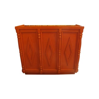 Large Lacquered Bar or Host Stand
