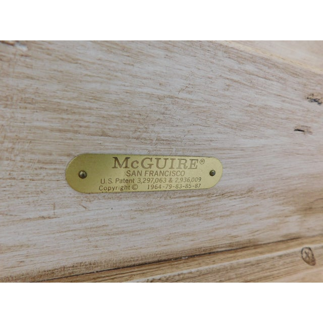"""McGuire of San Francisco Distressed Finish Pagoda Style Console Table 96""""w For Sale In Philadelphia - Image 6 of 13"""