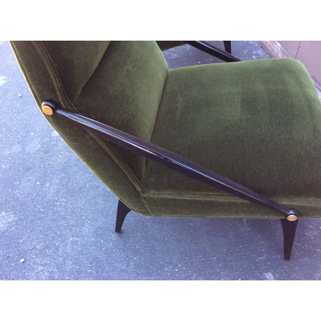Mid-Century Mohair Side Chairs- A Pair For Sale In Los Angeles - Image 6 of 7