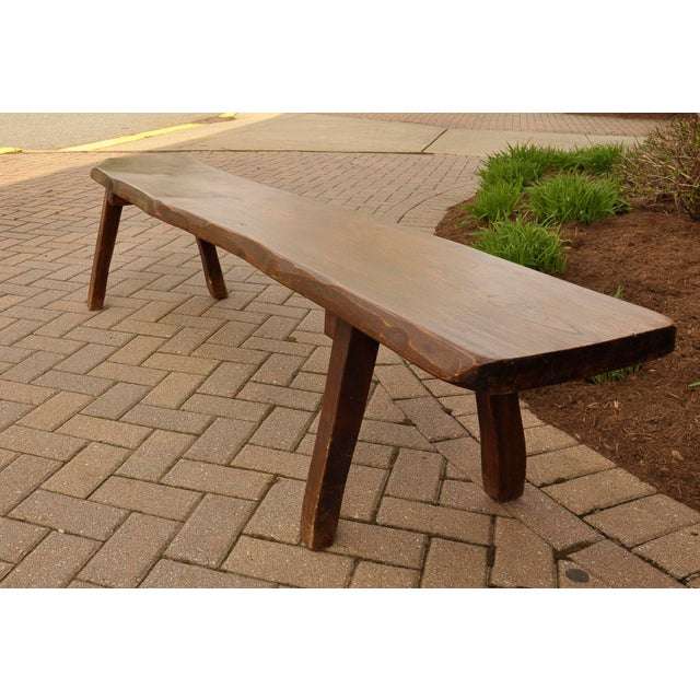 French Live-Slab Top Bench For Sale - Image 5 of 7