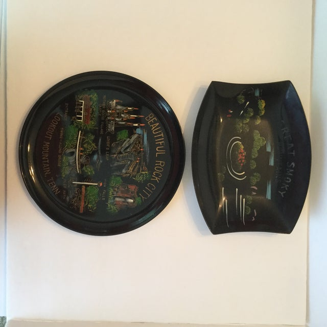 Tennessee Mid-Century Souvenir Trays - A Pair For Sale - Image 11 of 11