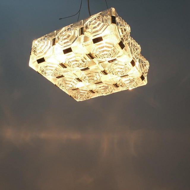 1 of 7 Kamenicky Senov Bohemian Glass Flush Mount Ceiling Lamp, Czechia For Sale - Image 12 of 13