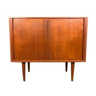 Vintage Danish Mid Century Modern Teak Record Cabinet by Kai Kristiansen for Feldballes Mobelfabrik For Sale
