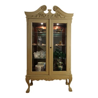 19th Century Chippendale Style China Display Cabinet For Sale