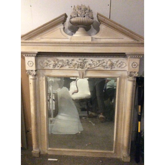 Wood Mid-19th Century Architectural Mirror With Carved Fruit For Sale - Image 7 of 9