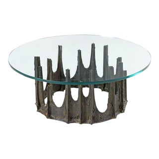 Paul Evans Signed Stalagmite Brutalist Coffee Table
