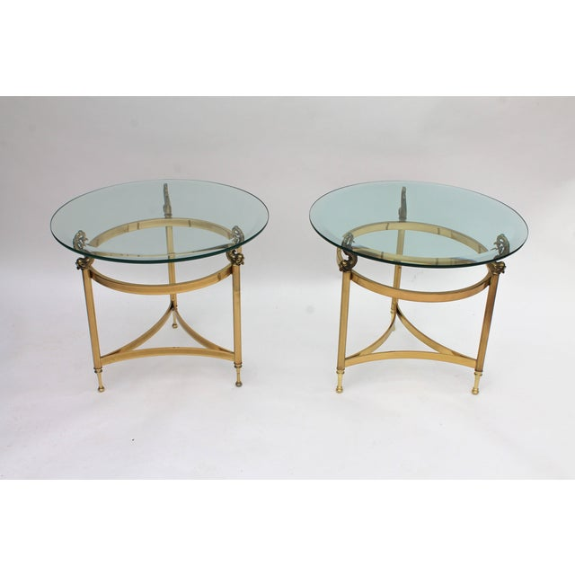 DIA Brass & Glass Side Tables - A Pair - Image 3 of 9