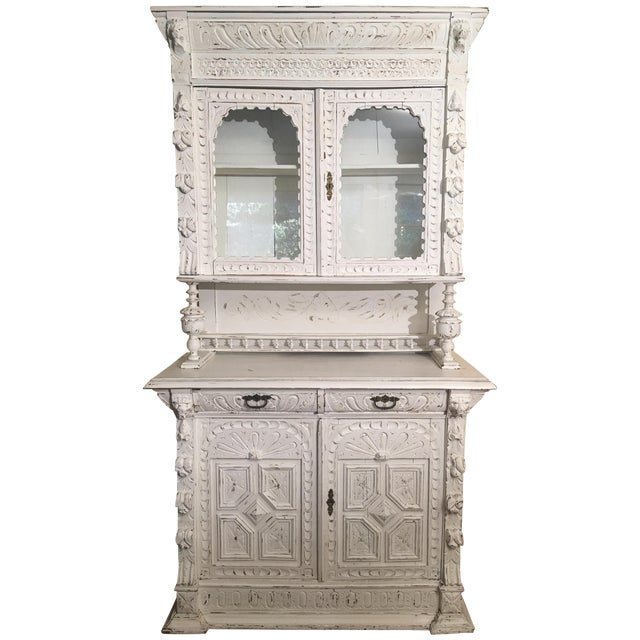 French Gothic Cabinet & Hutch - Image 1 of 8