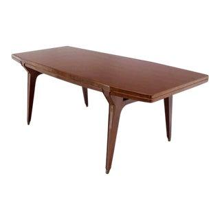 1950s Italian Modern Walnut Dining Table For Sale